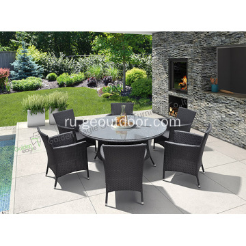 Garden++aluminium+Dining+Table+With+6+Chairs
